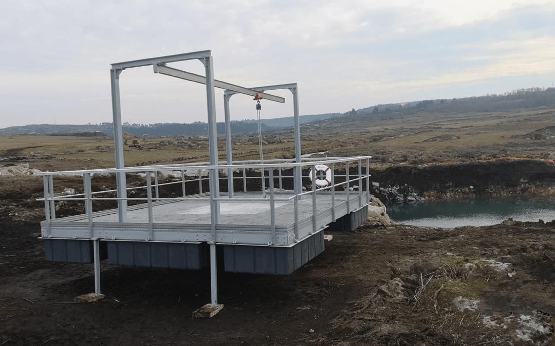 Plataforma flutuante de captação de água superficial Rio Torno – Barragem de Gouvães